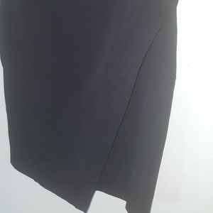 Banana Republic Black Slit Skirt